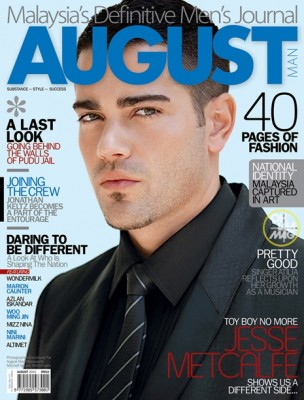 Jesse Metcalfe on the cover of August Man 2010