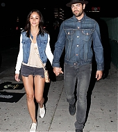 Jesse Metcalfe and Cara Santana leaving Imagine Dragons concert