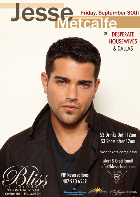 Meet Celebrity Jesse Metcalfe Friday
