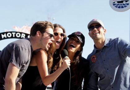 Jesse Metcalfe and Dallas cast at NASCAR Sprint Cup Series AAA Texas 500