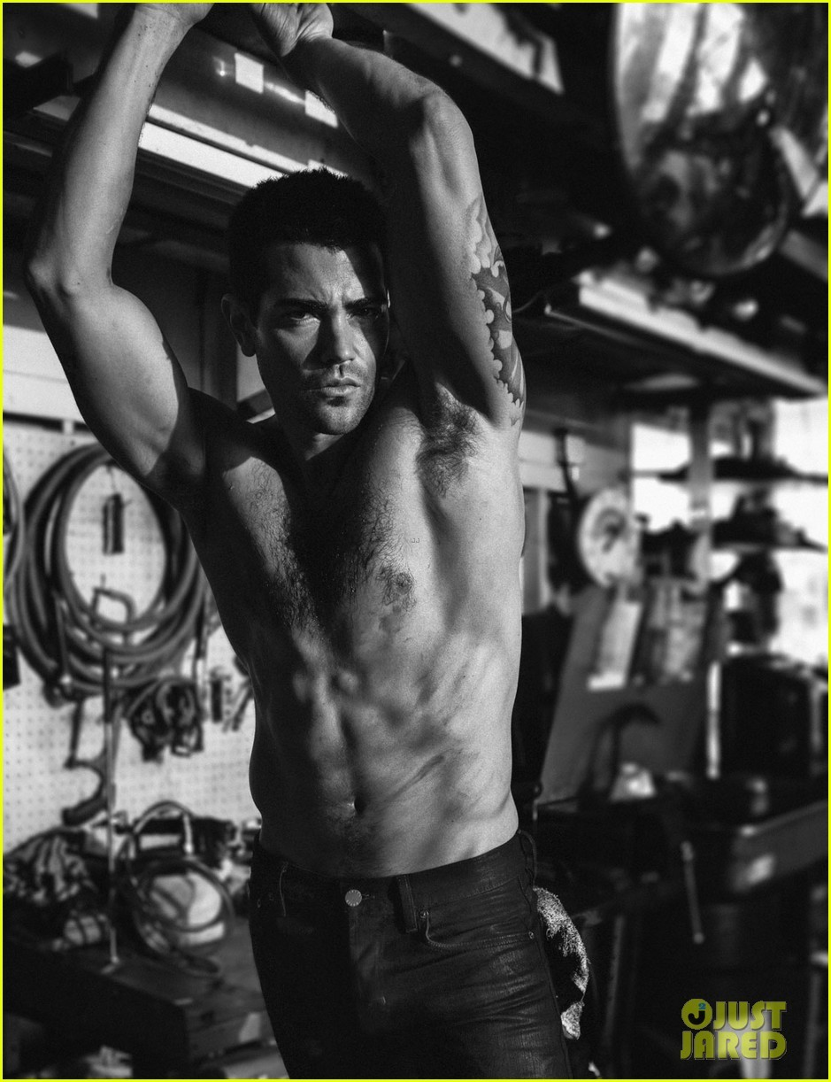 Jesse Metcalfe shirtless for Flaunt Magazine