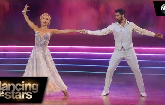 DWTS week 2: Foxtrot with Sharna Burgess